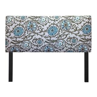 Upholstered Suzani Village Blue Headboard
