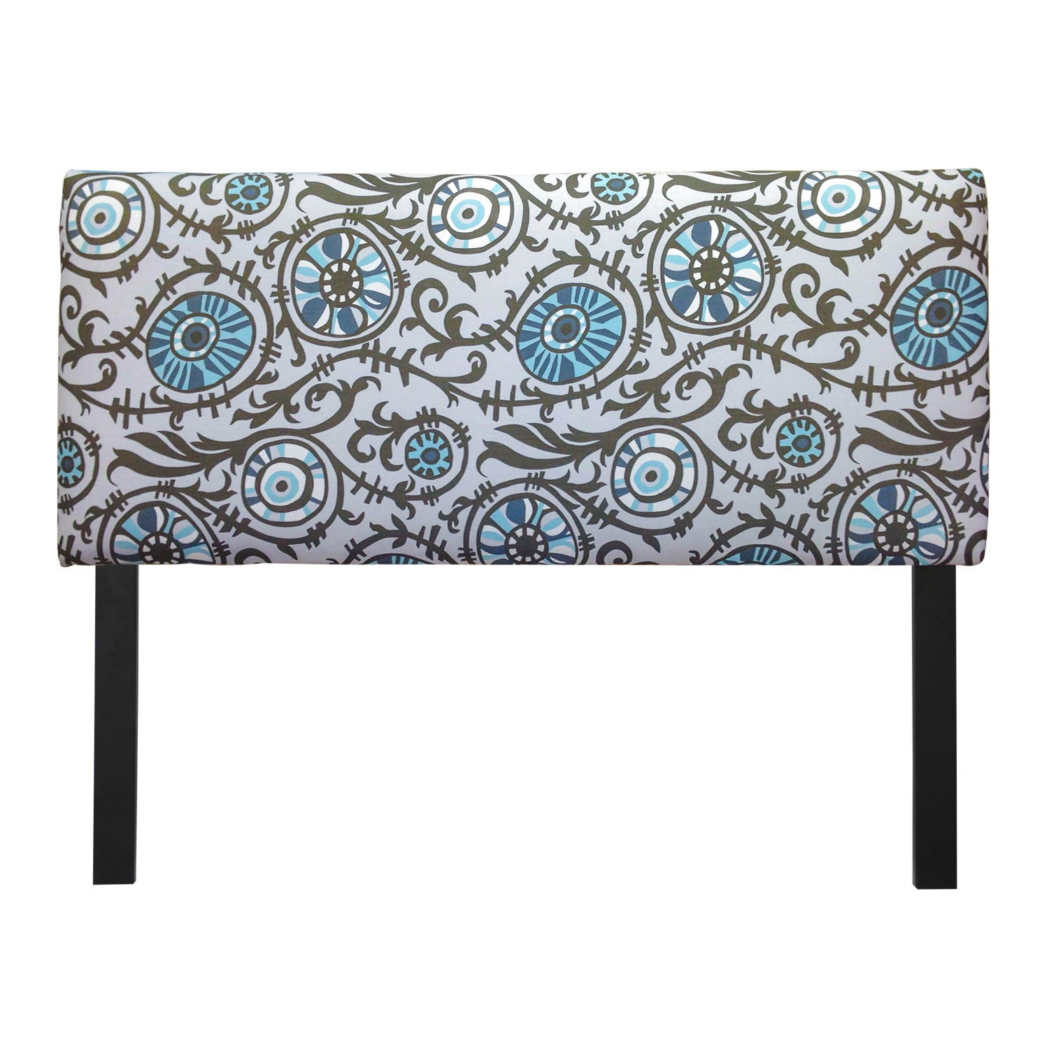 Sole Designs Upholstered Suzani Village Blue Headboard (K...