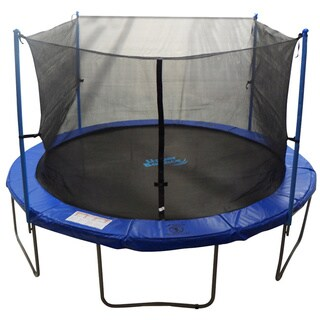 Trampoline Enclosure Set for 10 ft. Round Frame Trampolines with 2/ 4 'W' shaped Legs (As Is Item)
