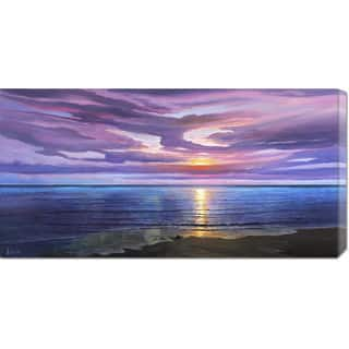 Global Gallery Adriano Galasso 'Tramonto sognante' Stretched Canvas