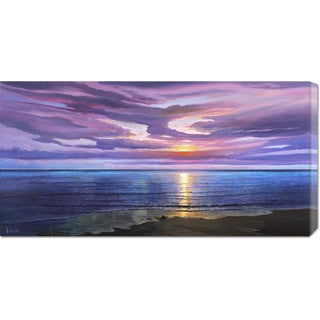 Link to Global Gallery Adriano Galasso 'Tramonto sognante' Stretched Canvas Similar Items in Recessed Lights