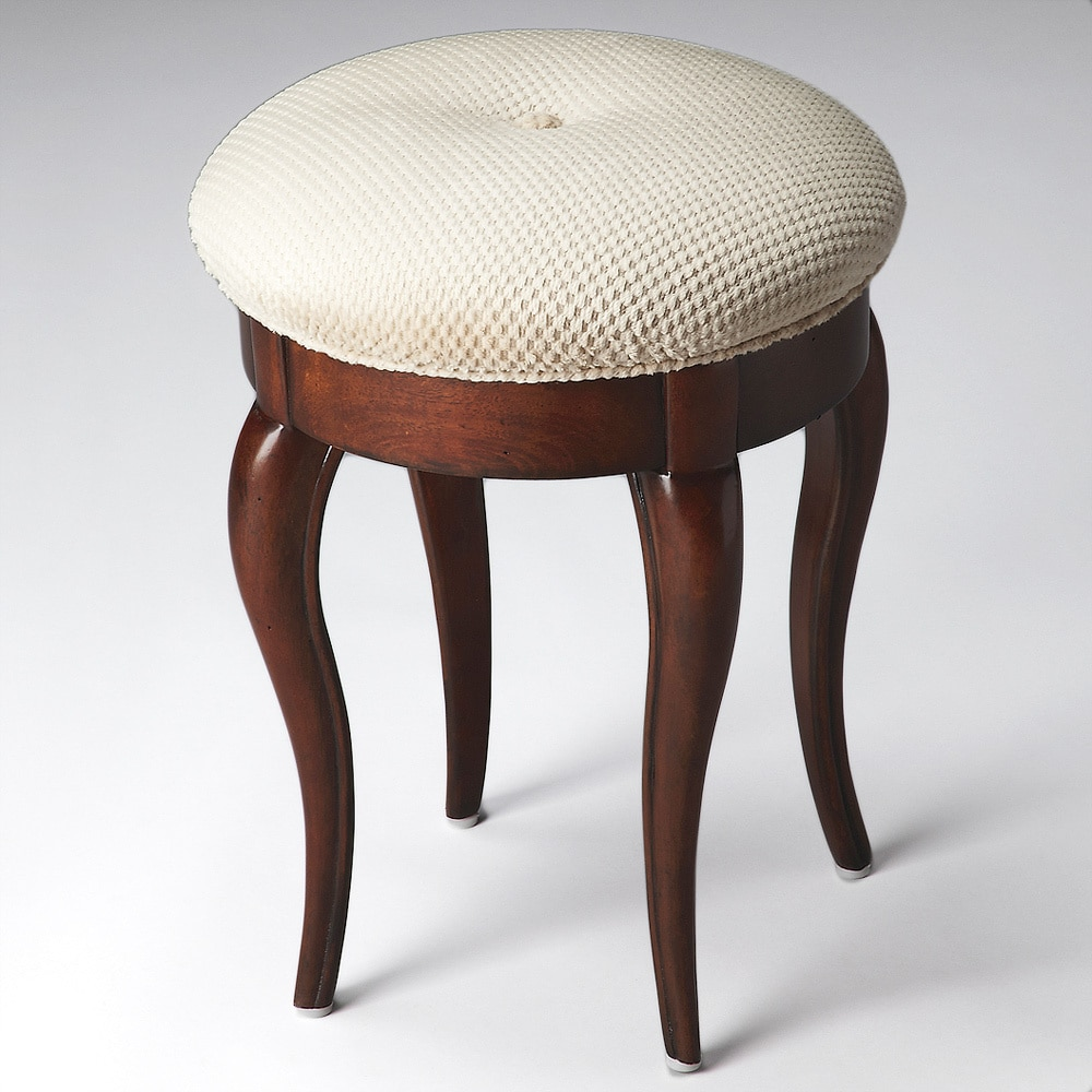 handmade rich cherry vanity stool