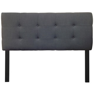 8-button Tufted Loft Charcoal Headboard