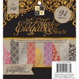 Foiled Elegance Kraft Paper Stack 6 X6 24/Sheets - 12 Designs/2 Each, W/Foil Accents