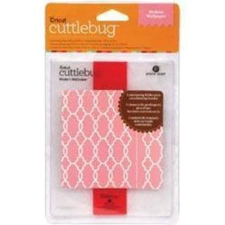 Cricut Cuttlebug A2 Embossing Folder/Border Modern Wallpaper Set