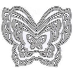 Lin & Lene Cut & Emboss Dies 3/Pkg - Butterfly