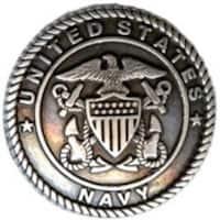 Concho 1.25  Antique Silver 1/Pkg - US Navy