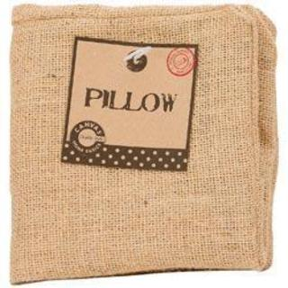 Burlap Pillow Square 12 X12 - Natural