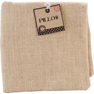 Burlap Pillow Square 20 X20 - Natural