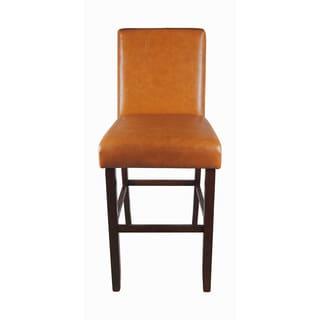 Luxury Orange Faux Leather Barstool