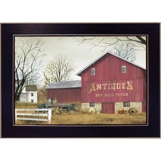 """""""Antique Barn"""" By Billy Jacobs, Printed Wall Art, Ready To Hang Framed Poster, Black Frame