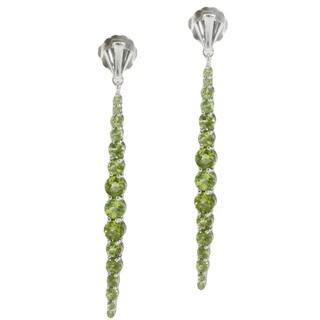 Michael Valitutti Sterling Silver Peridot Earrings