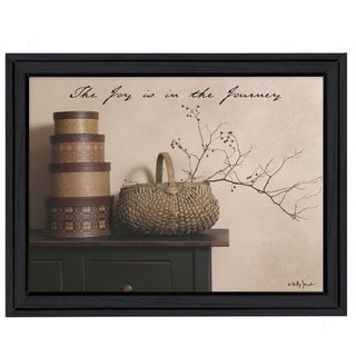 """The Joy is the Journey"" By Billy Jacobs, Printed Wall Art, Ready To Hang Framed Poster, Black Frame"