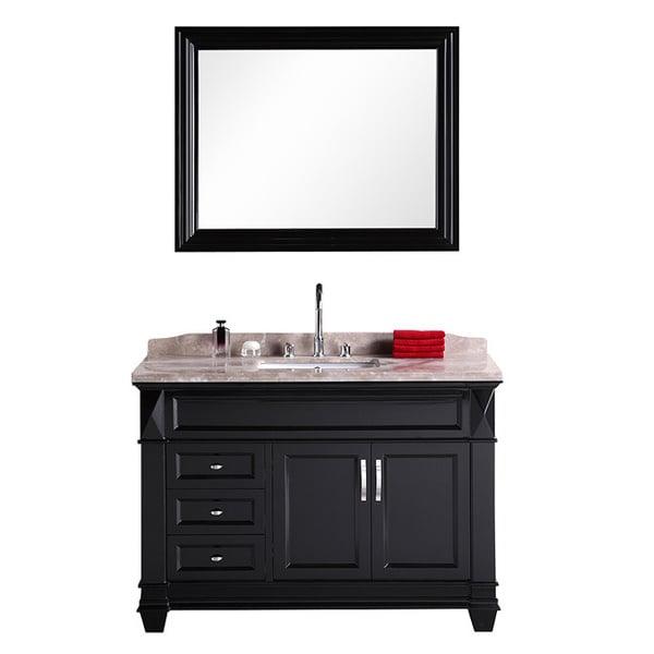 Virtu Usa Sterling 48 Inch Single Sink Bathroom Vanity Set: virtu usa caroline 36 inch single sink bathroom vanity set