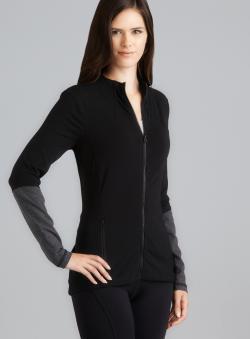 Central Park Contrasting Sleeve Performance Zipper Jacket