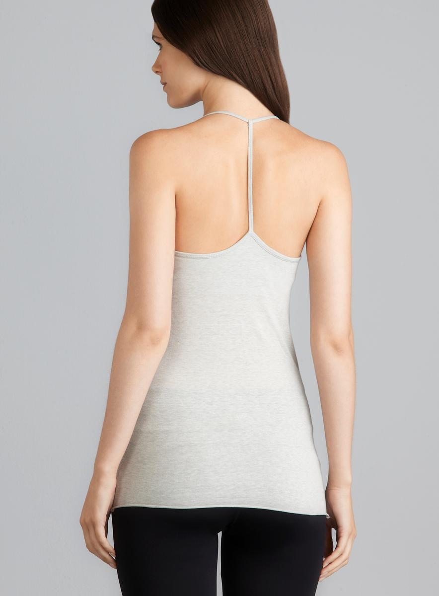 Central Park Gray T Back Cami With Padded Shelf Bra - Free ...