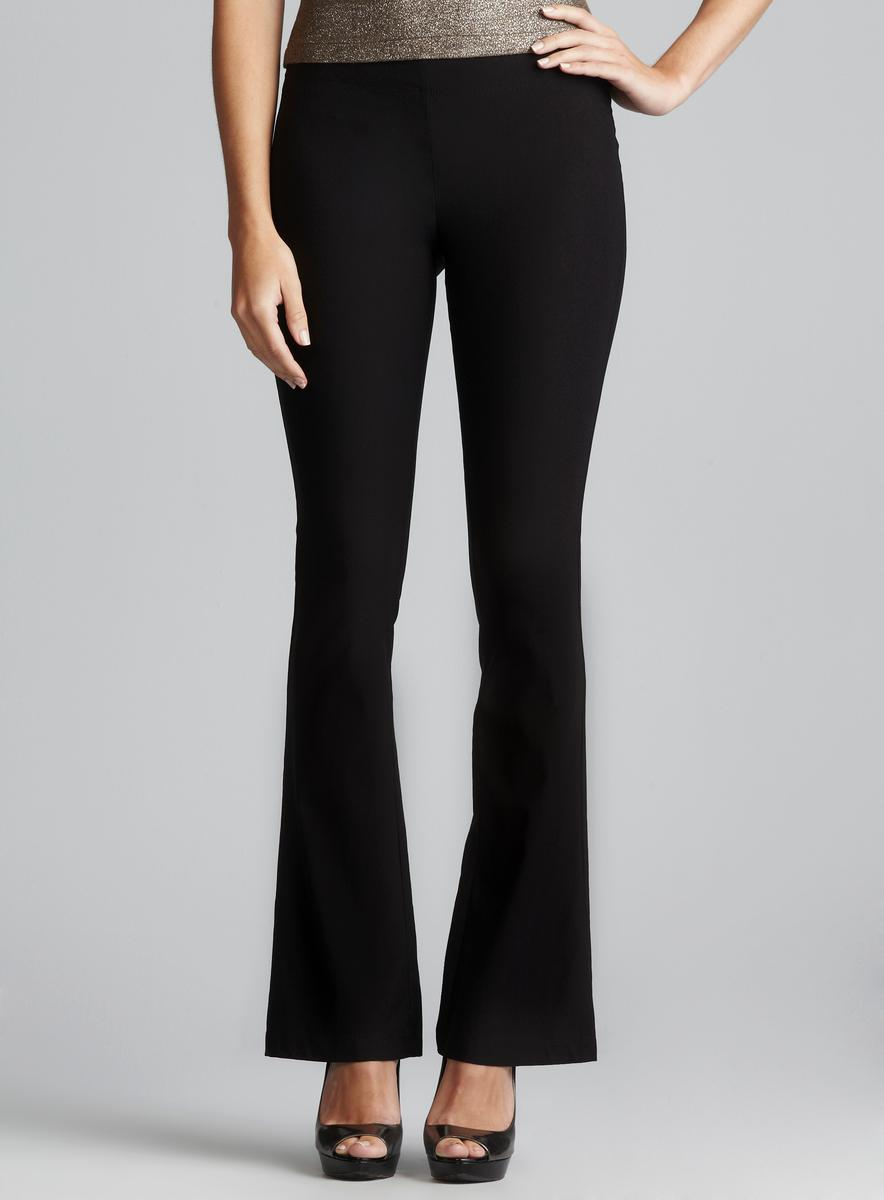 Max Studio Stretch Woven Pull on Bootcut Pant