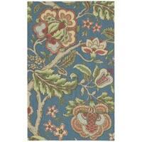 Waverly Global Awakening Imperial Dress Sapphire Area Rug by Nourison (2'6 x 4') - 2'6 x 4'