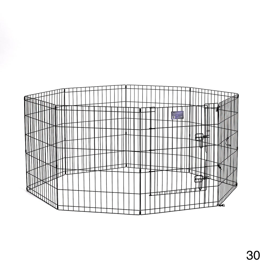 """Midwest Exercise Pen (30"""" Black Exercise Pen with Door)"""