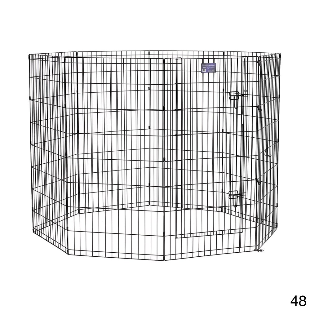 "Midwest Exercise Pen (48"" Black Exercise Pen with Door)"