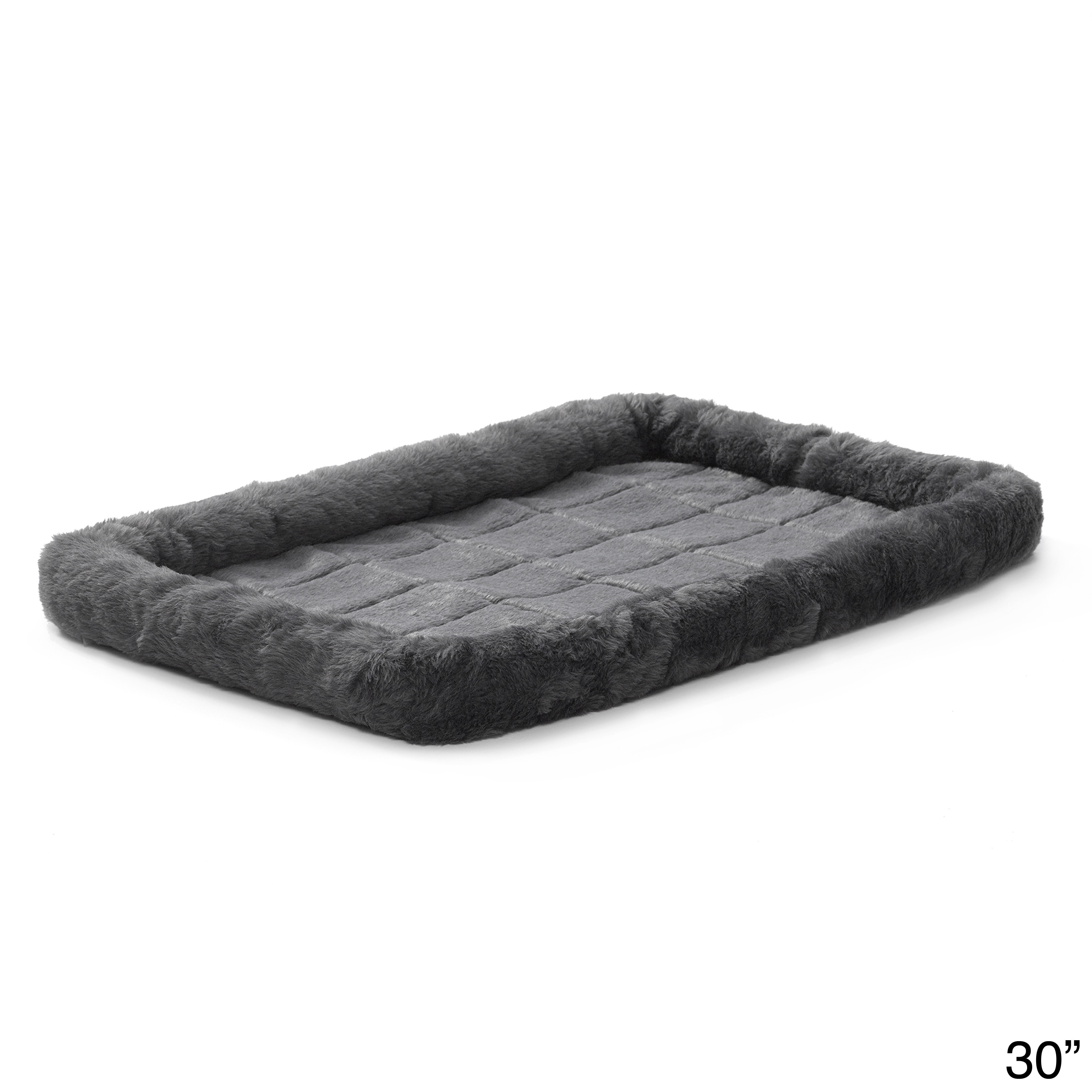 Midwest Quiet Time Bolstered Pet Bed (30), Grey, Size Medium