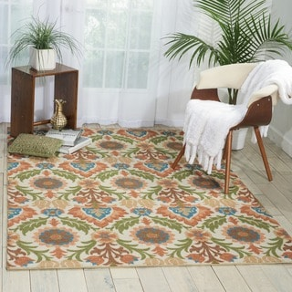 Waverly Global Awakening Santa Maria Pear Area Rug by Nourison (2'6 x 4')