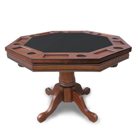 "Hathaway Kingston Walnut 3-in-1 Poker Table - 48""L x 48""W x 33.5""H"