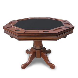 "Hathaway Kingston Walnut 3-in-1 Poker Table - 48""L x 48""W x 33.5""H"