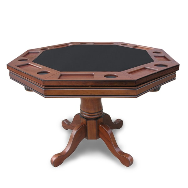 kingston walnut 3 in 1 poker table free shipping today. Black Bedroom Furniture Sets. Home Design Ideas