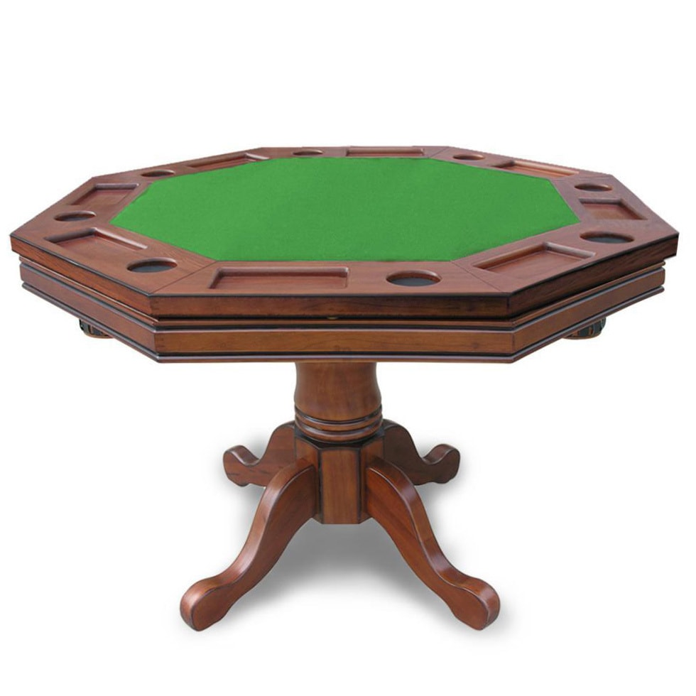 Hathaway Kingston Walnut 9-in-9 Poker Table - 9-in diameter x 99-in H