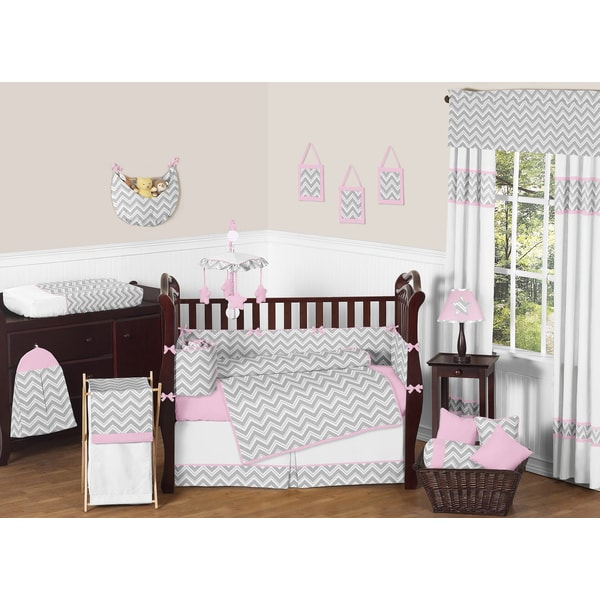 Shop Sweet Jojo Designs Zig Zag 9 Piece Crib Bedding Set