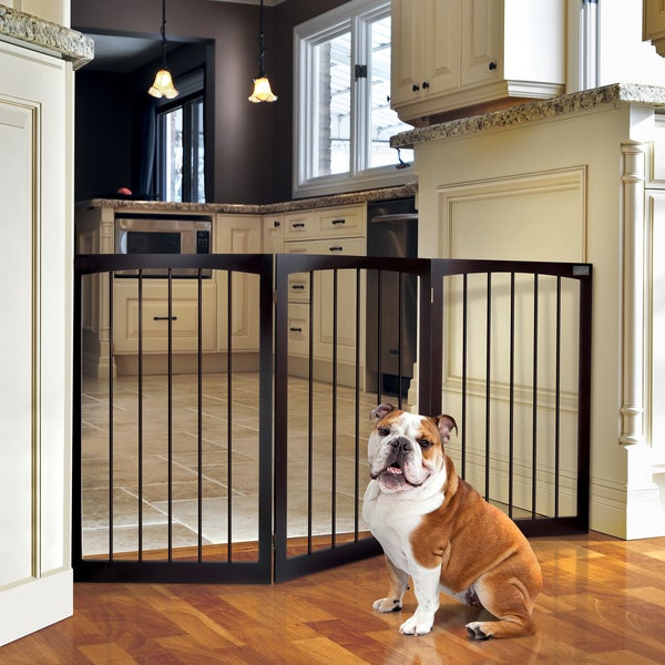 Animal Planet Freestanding Wooden Pet Gate - Free Shipping On ...