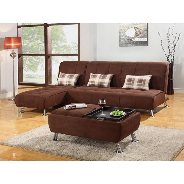 Futon Sectional And Coffee Table Set Free Shipping Today 15657633