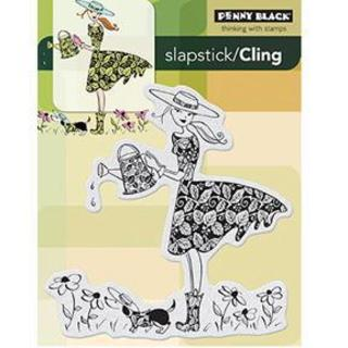 Penny Black Cling Rubber Stamp 4 X5.25  - Garden Assistant