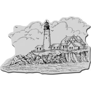 Stampendous Cling Rubber Stamp - Portland Head Lighthouse