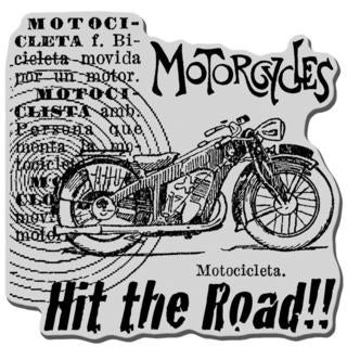 Stampendous Cling Rubber Stamp - Motorcycle Elements