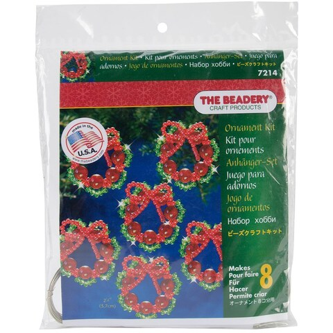 Holiday Beaded Ornament Kit - Cranberry Wreath
