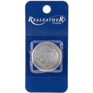 Concho 1.125 Antique Silver 1/Pkg - Half Dollar Tails