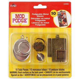 Mod Podgeable Metal Blanks 10/Pkg -