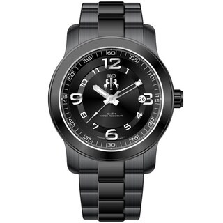 Jivago Women's Infinity Black Stainless Steel Quartz Watch