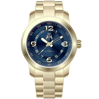Jivago Women's Infinity Goldtone Stainless Steel Blue Dial Watch