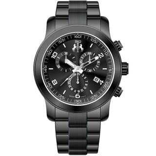 Jivago Women's Infinity Black Stainless Steel Watch