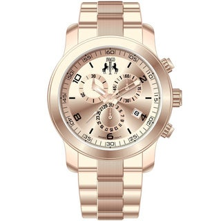 Jivago Women's 'Infinity' Rose Goldtone Chronograph Watch