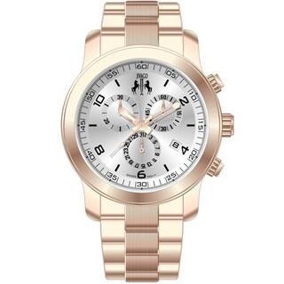 Jivago Women's 'Infinity' Silvertone Dial Chronograph Watch