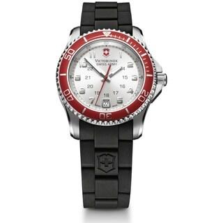 Swiss Army Women's Maverick GS Silver Dial Red Bezel Watch - 241484