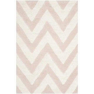 Safavieh Handmade Moroccan Cambridge Light Pink/ Ivory Wool Rug (2' x 3')