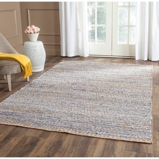 Safavieh Cape Cod Handmade Natural / Blue Jute Natural Fiber Rug (3' x 5')
