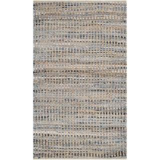 Safavieh Handmade Cape Cod Arlena Coastal Jute Rug (5 x 8 - Natural/Blue)