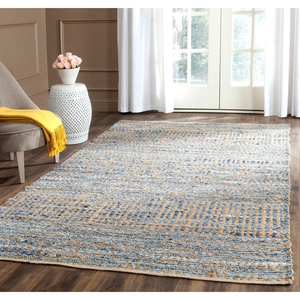 Safavieh Cape Cod Handmade Natural Blue Jute Natural