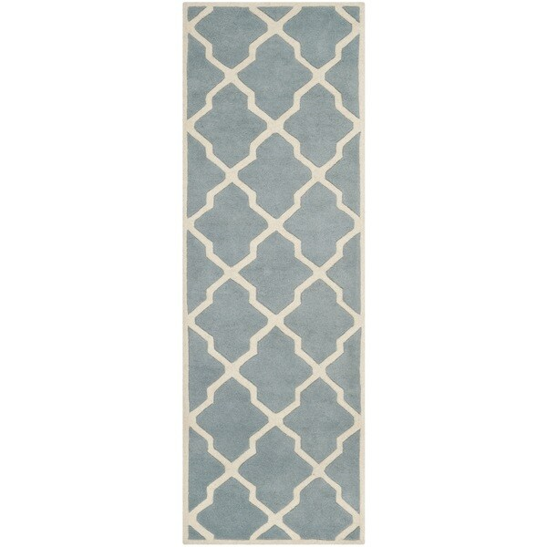 Safavieh Handmade Moroccan Chatham Blue Ivory Wool Rug 2